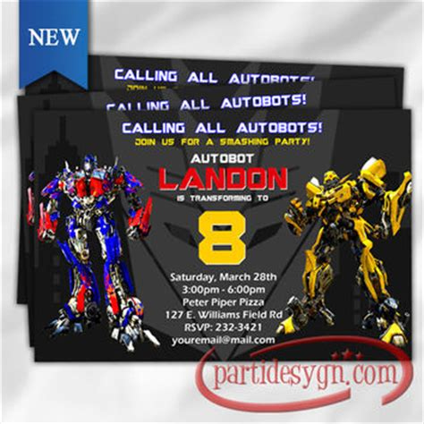 transformer invitation template shop transformers invitations on wanelo