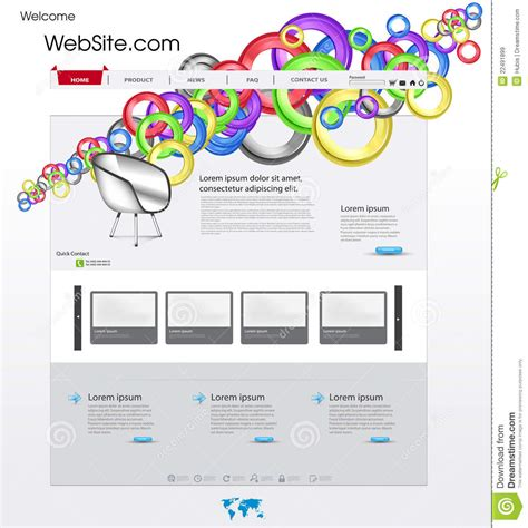 Colorful Website Template Royalty Free Stock Images Image 22491899 Colorful Website Templates