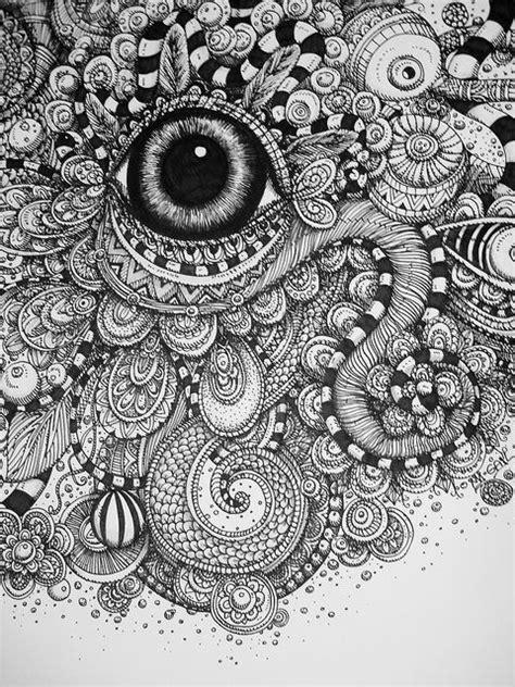 doodle eye big flickr photo zentangles
