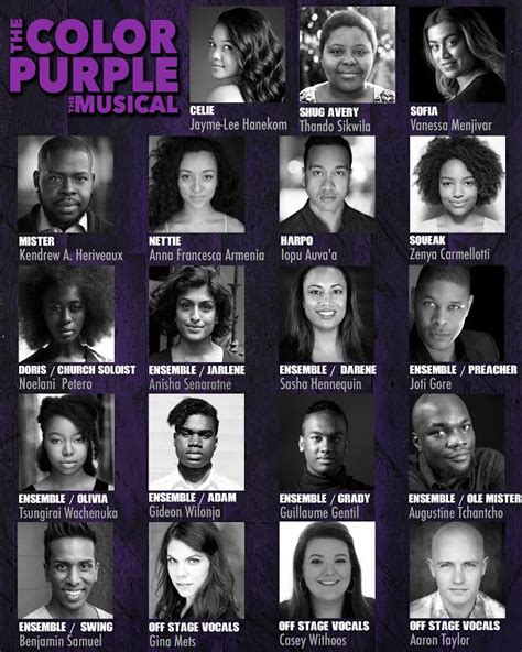 the cast of the color purple the color purple cast announced theatrepeople