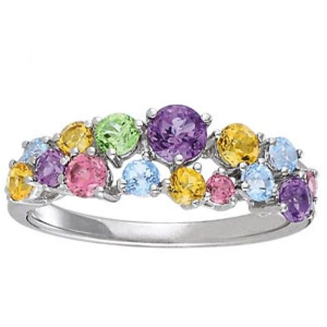 engagement rings with colored stones white gold