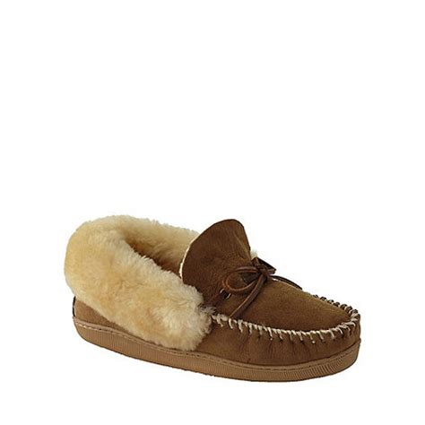 lands end womens slippers lands end beige s shearling moccasin slippers