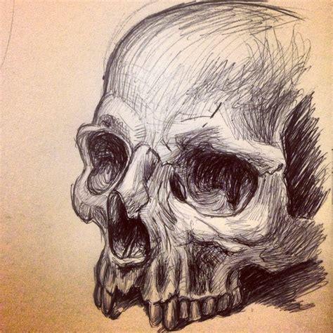 human skull sketch inspiration pinterest