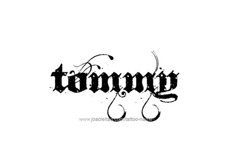 tommys tattoos name designs