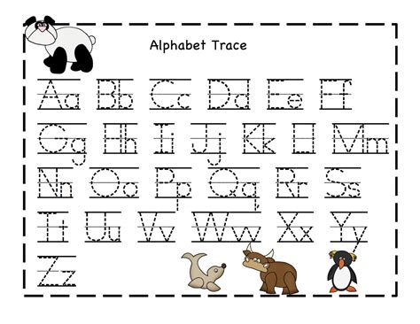 printable alphabet worksheets alphabet printables new calendar template site