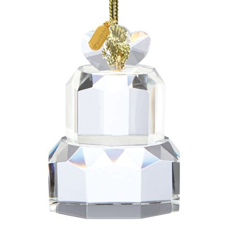 our first christmas ornament 2016 wedding cake lenox