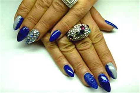 Ongle En Gel Bleu by Ongle Gel Bleu Deco Ongle Fr