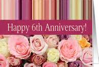 6th wedding anniversary cards from greeting card universe