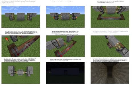 How Do You Make A Door In Minecraft by Secret Piston Pressure Plate Door Minecraft By