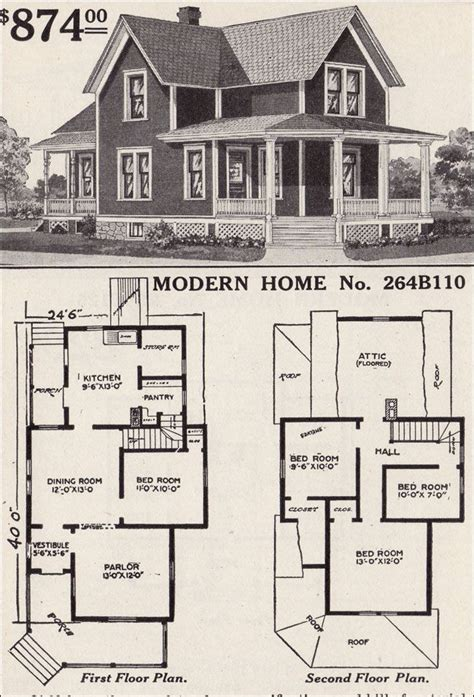 vintage farmhouse floor plans large list of traditional home floor plans antiquehomestyle 1916 sears no 264b110