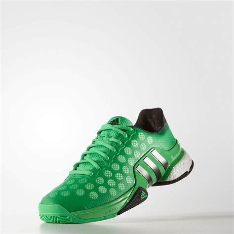 adidas barricade  boost womens green sneakers tennis