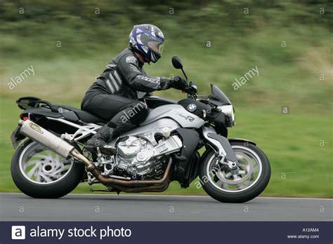 Bmw K1200r by Side On View Of Rider On Black And Silver Bmw K1200r At