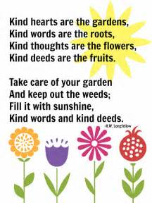Garden Of Poem Mamahall Hearts Are The Gardens Free Printable