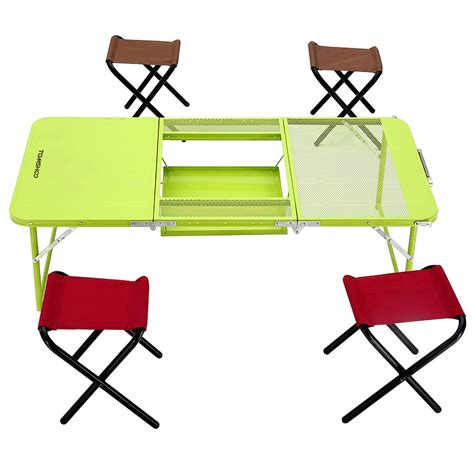 folding table and chairs cing ikayaa two heights desk chair set combo trible treble
