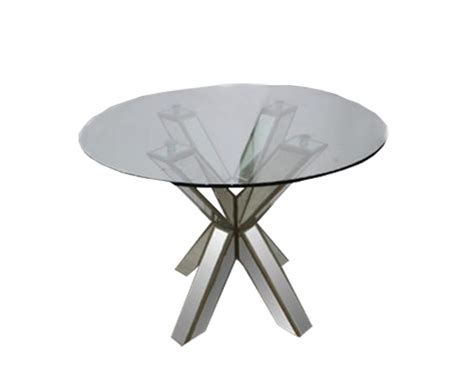 Metal Outdoor Sofa Hancock Mirrored Round Glass Dining Table 30 Quot Top Lux