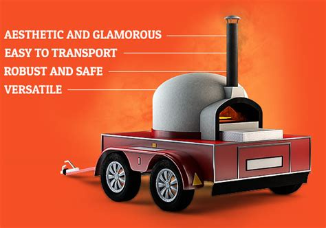 mobile pizza oven mobile wood fired or gas pizza oven catering trailer