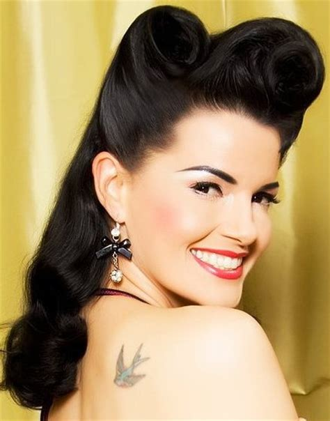 pin up hair black styles glam retro hairstyle ideas hairstyles 2017 new haircuts
