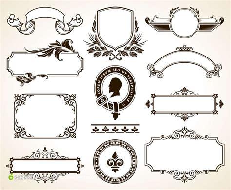 set of design elements vector 古典边框花纹 素材公社 tooopen com