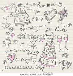 doodle wedding 17 pieces of wedding doodles includes wedding cake