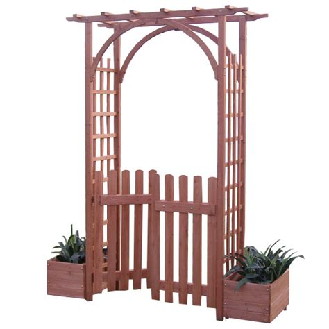 Wooden Garden Arch With Planters by Fuchsia Fsc Fir Garden Arch On Sale Fast Delivery