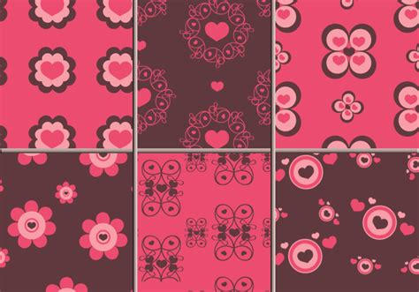 illustrator pattern move pink brown hearts illustrator patterns download free