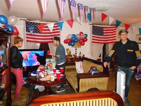themed party house an quot american house party quot interpreted by some polish