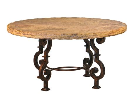 Unique Dining Table Bases This Rustic Dining Table Starts With Thick Metal The Metal Is Then Fired And