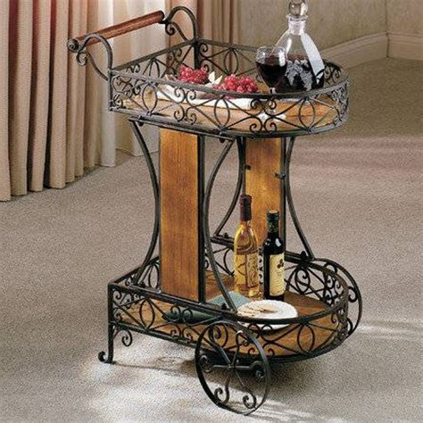 dining room serving cart metal wooden serving cart with wheels dining room