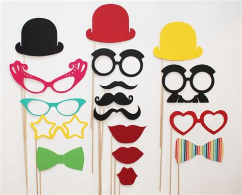 design photo booth props 17pcs set new design chic funny lips glasses modeling diy