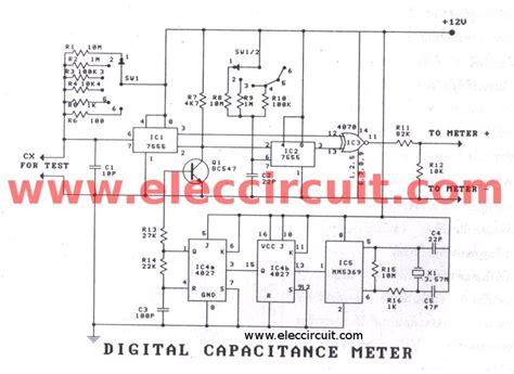 capacitor leakage tester circuit digital capacitor meter projects easy to build eleccircuit