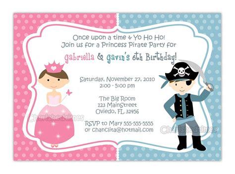 princess pirate invitation template princess and pirate or zebra or dots background birthday invitation you print