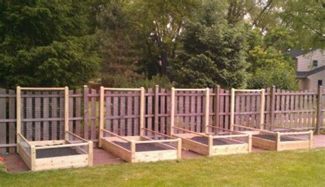 4 Ft Fence With Trellis Buy Four Raised Bed Gardens