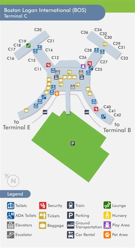 logan airport map logan airport terminals airlines images