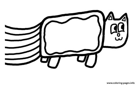 nyan cat coloring pages nyan cat fast simple coloring pages printable