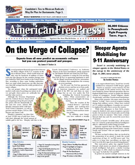 on the verge of afp 20030908 issue 34 main on verge of collapse