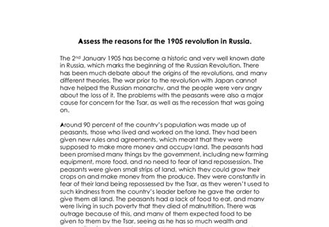 Russian Revolution Causes And Effects Essay by 1905 Russian Revolution Essays