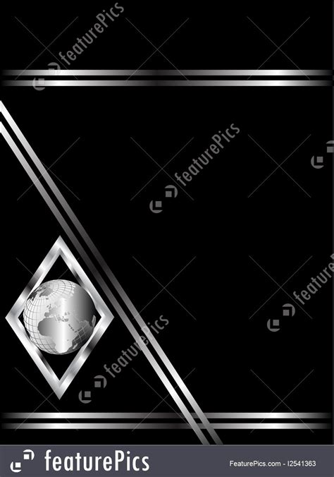 black and silver business card templates illustration of a black and silver business card template