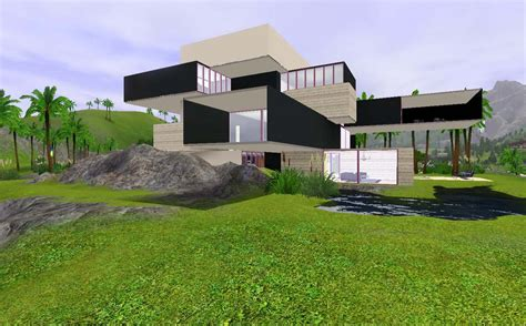 www house mod the sims cubist house