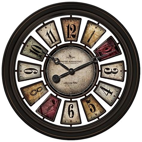 bed bath beyond clocks buy firstime 174 numeral plaques wall clock from bed bath