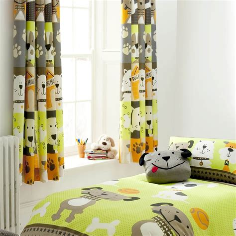 dog curtains cute dog kids curtains to match duvet all curtains from