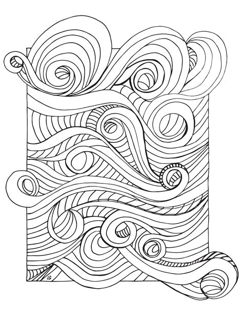 Lostbumblebee Grown Up Colouring Rushing Wind Free Grown Up Coloring Pages