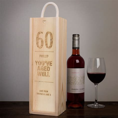 Wedding Wine Box Quotes by Personalised Wooden Wine Box You Ve Aged Well