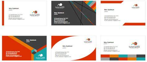 cara membuat desain kartu nama sendiri 100 contoh desain kartu nama keren siap pakai tutorial89