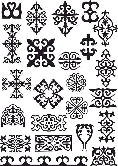 kazakh ornaments patterns  vector cdr  axisco