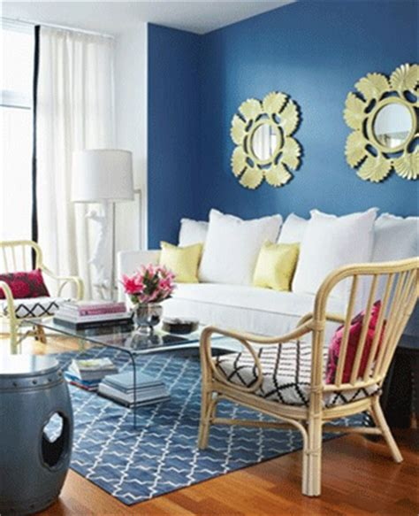 Royal Blue Paint Living Room With Blue And Yellow Rooms Ac Design