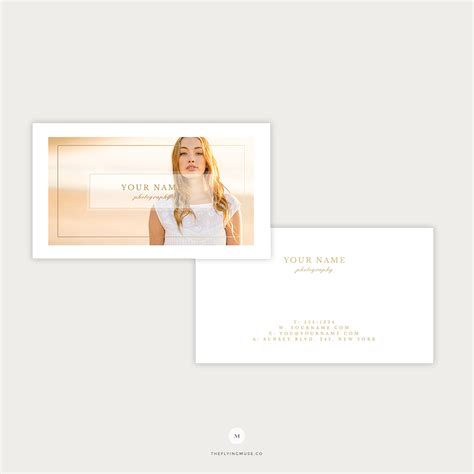 business cards template  wedding photography marketing