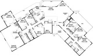 Kitchen Island Blueprints ranch style house plans 3821 square foot home 1 story