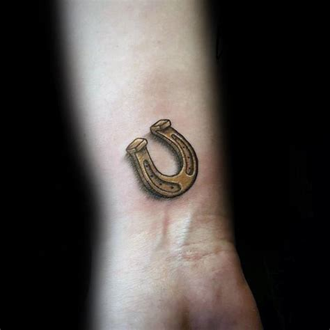 horseshoe tattoos for men 60 horseshoe designs for luck ink ideas