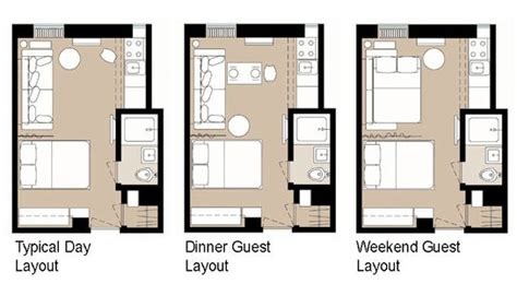 efficient studio layout 5 smart studio apartment layouts apartment therapy