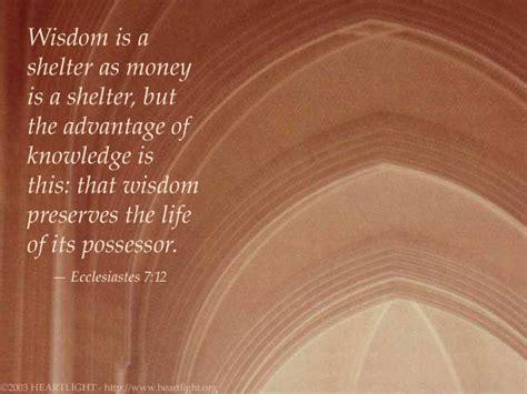 ecclesiastes  illustrated wisdom   shelter